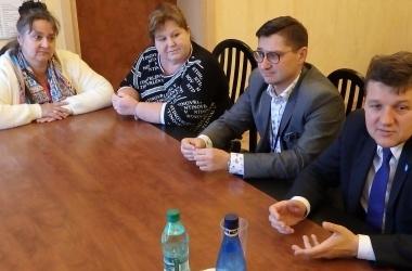 Od lewej Agnieszka Modranka, Anna Pachulska, Miron Ossowski i Mateusz Kamiński na spotkaniu wspomnieniowym